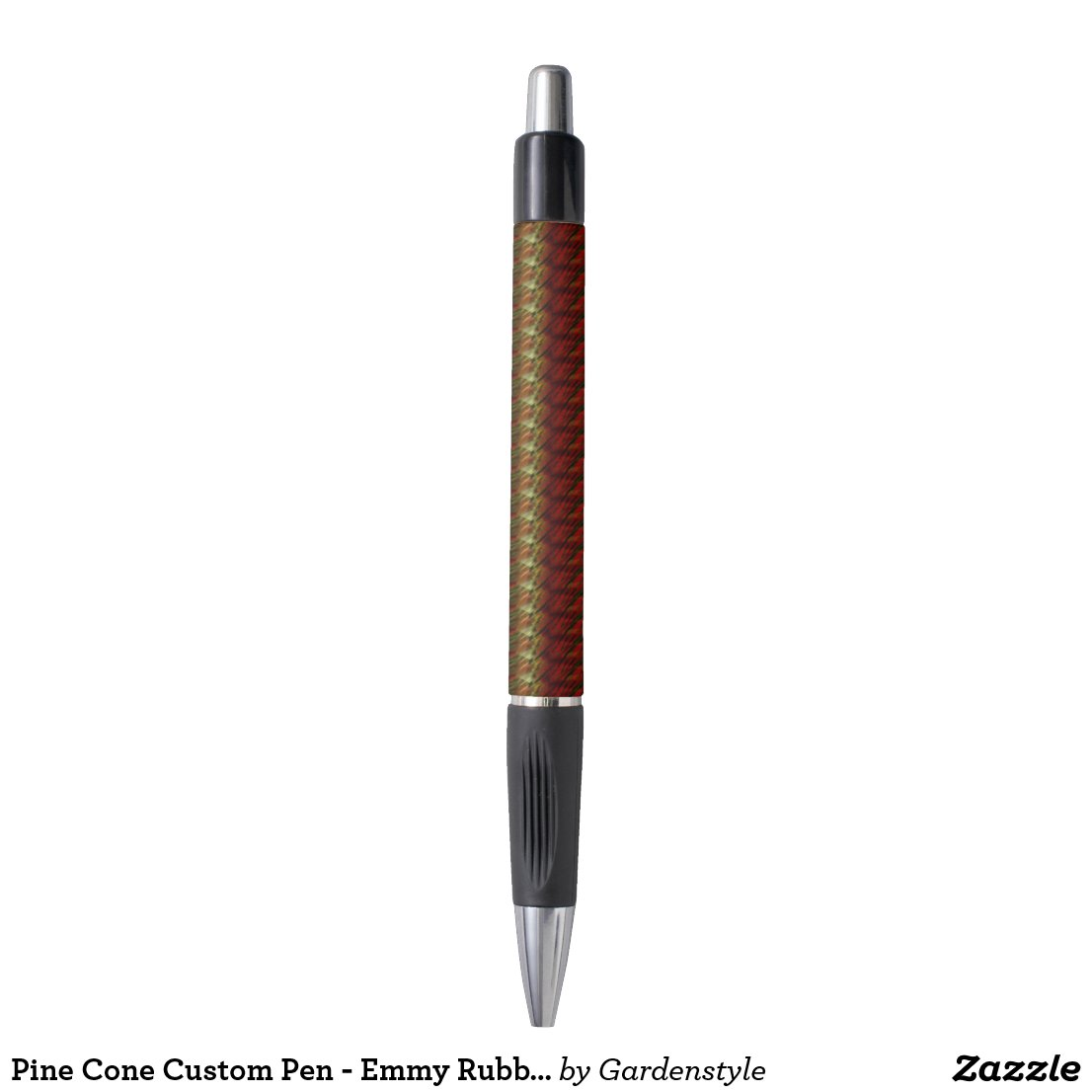 Pine Cone Custom Pen - Emmy Rubber Grip Pen