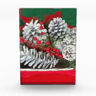 Pine Cone Holly Decoration Acrylic Award