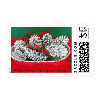 Pine Cone Holly Decoration Postage