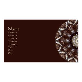 Pine Cone Kaleidoscope Business Card Template