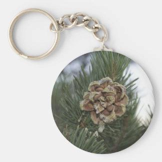 pine cone keychain