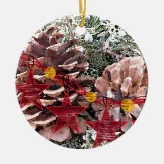 Pine Cone n' Stars Ornament