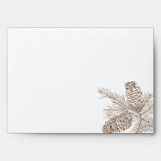 Pine Cone Nature Wedding Envelope