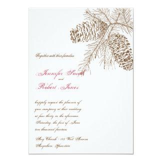 Pine Cone Nature Wedding Invitation