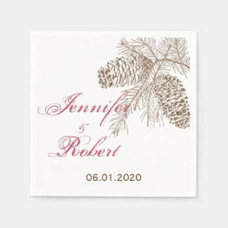Pine Cone Nature Wedding Napkin