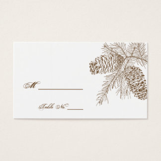 Pine Cone Nature Wedding Place Cards