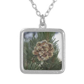 pine cone personalized necklace