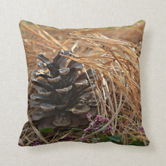 Pine Cone Pine Needles Caress Throw Pillow