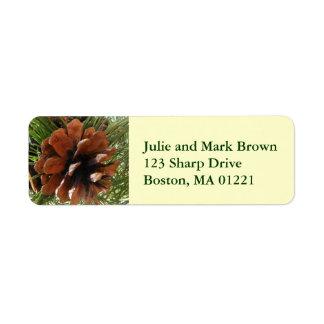 Pine Cone Return Address Label