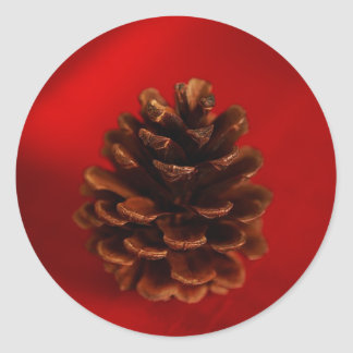 Pine Cone Round Stickers