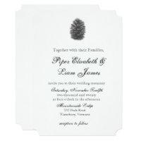Pine cone Wedding Invitation