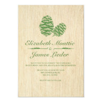 Pine Cone Wedding Invitations