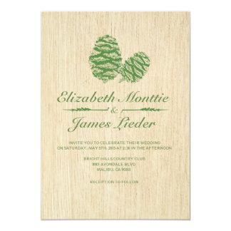 Pine Cone Wedding Invitations Custom Invites