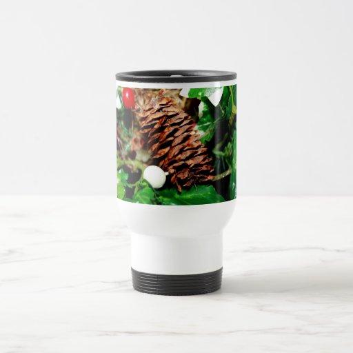 Pine Cone With Ivy Coffee Mugs