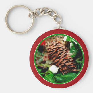 Pine Cone With Ivy Key Chains
