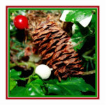 Pine Cone With Ivy Photo Cut Out