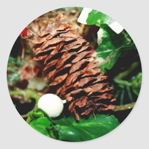 Pine Cone With Ivy Sticker