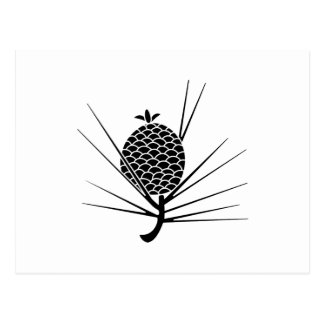 Pine cone with needles postcard