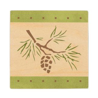 Pine Cone Wood Coaster