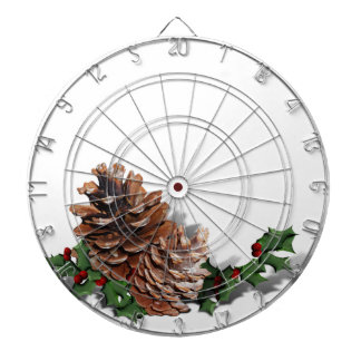 Pine Cones (Add Background Color & Text) Dartboard With Darts