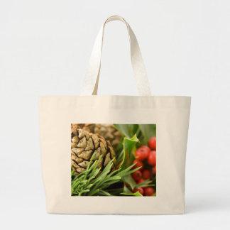 Pine cones and berries bag