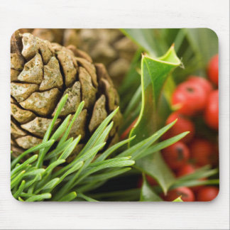 Pine cones and berries mouse pad