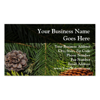 Pine Cones and Branches Business Card Templates