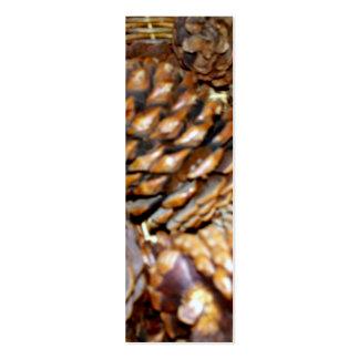 Pine Cones Bookmark Business Card