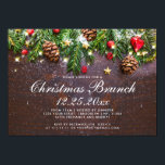 """Pine Cones Branch Rustic Holiday Christmas Brunch Invitation<br><div class=""""desc"""">Pines Cones Branch Rustic Holiday Christmas Party Invitation. You can edit the design as you wish, including changing """"Holiday"""" to """"Christmas"""" by clicking the """"customize further"""" link and modify this template. If you prefer Thicker papers / Matte Finish, you can switch the type in the setting on the right. If...</div>"""