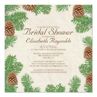 Pine Cones Bridal Shower Invitations Personalized Invitations