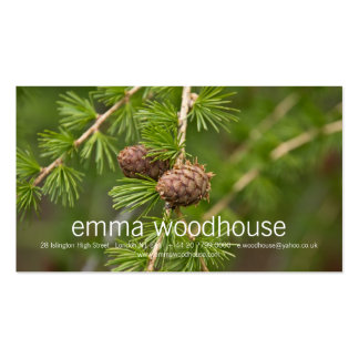 Pine Cones Business Card Templates