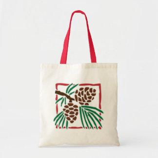 Pine Cones Canvas Bags