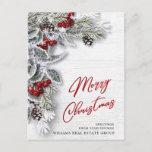 "Pine Cones Christmas Holiday Corporate Greeting Postcard<br><div class=""desc"">Pine Cones Christmas Holiday Corporate Greeting Postcard.</div>"