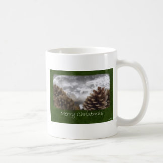 Pine Cones Collage - Merry Christmas Mugs