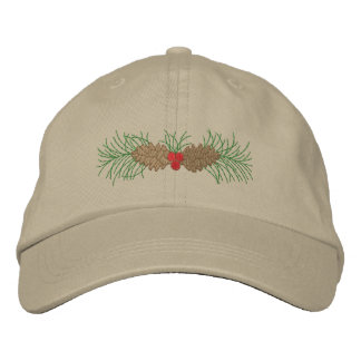 Pine Cones Embroidered Baseball Hat
