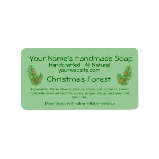 Pine Cones Homemade Christmas Soap Labels Template