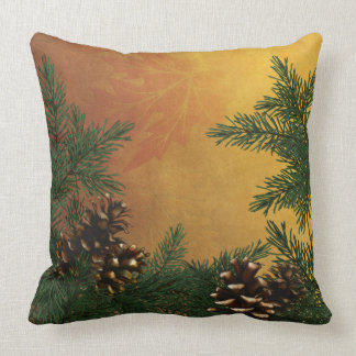 Pine Cones in the Forest Designer Pillows