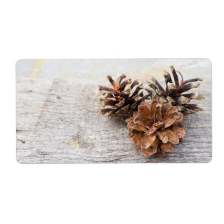 Pine cones shipping label