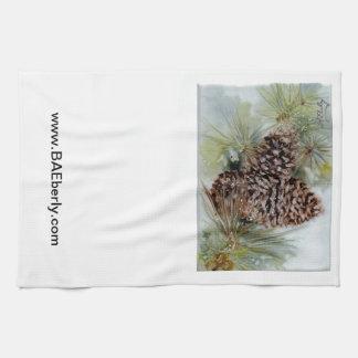 Pine Cones on Kitchen Towel