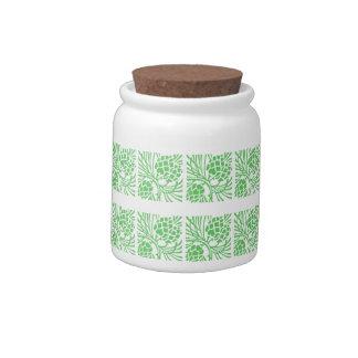 Pine Cones Text E (10 oz) Porcelain Candy Jar