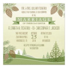 Pine Cones Wedding Invitation