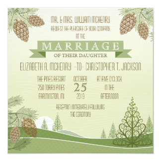 Pine Cones Wedding Invitation