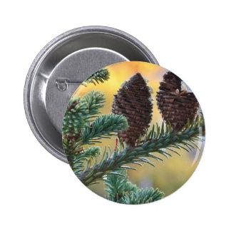 Pine Cones Woodlands Nature Scene Pinback Button