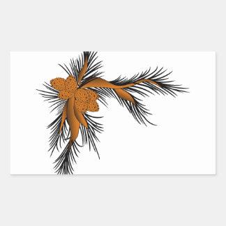 Pine Corner Rectangular Sticker