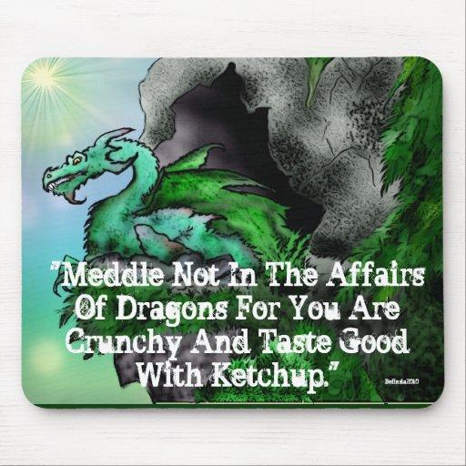Pine Dragon/Crunchy Mouse Pad