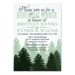 Pine Enchanted Forest Rehearsal Dinner Invitations