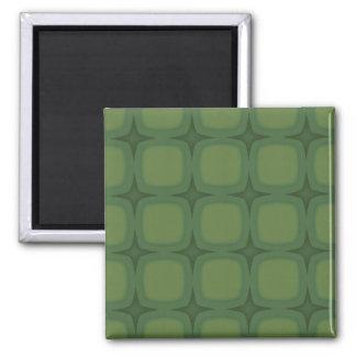 Pine & Fir Green Retor Squares Stars Magnets