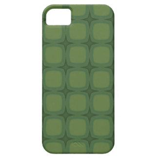 Pine & Fir Green Retro Squares iPhone 5 Cases
