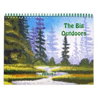 Pine Forest Big Outdoors Art 2015 Calendar