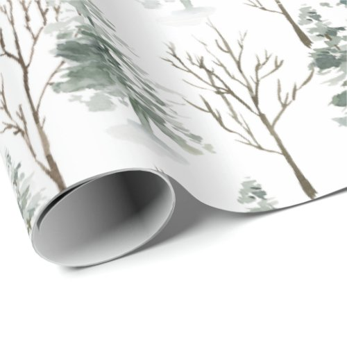 Pine Forest Christmas Holiday Wrapping Paper